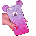 Husa iPhone 7 Plus glitter urechi mini mouse
