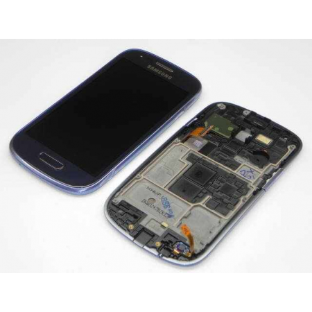 Display Amoled Samsung Galaxy S3 mini i8190 i8200 Albastru Original