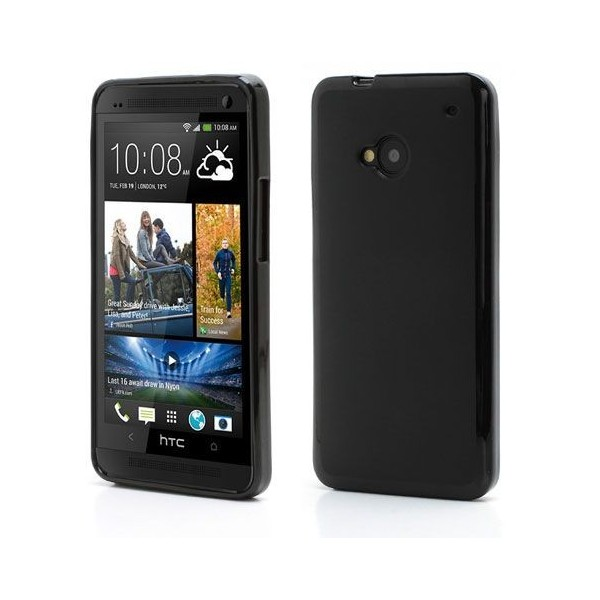 Husa HTC One M7 antisoc TPU Gel neagra