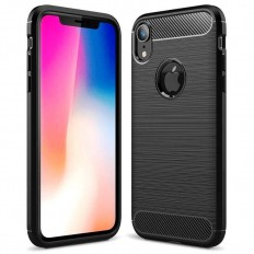 Husa Apple iPhone XR 6.1 carbon fiber negru
