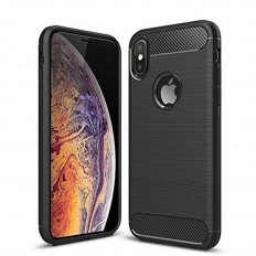 Husa Apple iPhone X 5.8 carbon fiber negru