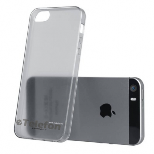Husa iPhone 5S Ultraslim TPU Gel fumurie