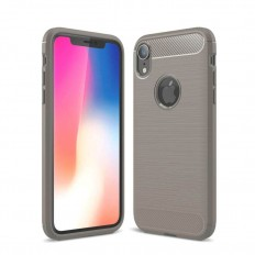 Husa Apple iPhone XR 6.1 carbon fiber gri