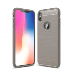 Husa iPhone XS Max carbon fiber gri