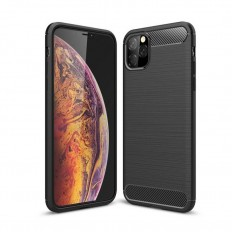 Husa Apple iPhone 11 Pro Max carbon fiber negru