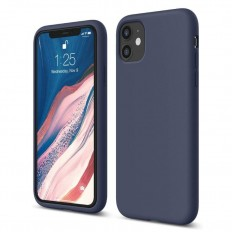 Husa Apple iPhone 11 Silicone Case Albastru
