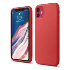 Husa Apple iPhone 11 Silicone Case Rosu