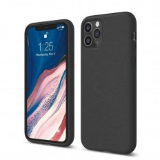 Husa Apple iPhone 11 Pro Silicone Case negru