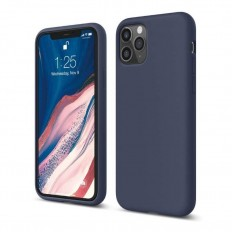 Husa Apple iPhone 11 Pro Silicone Case albastru