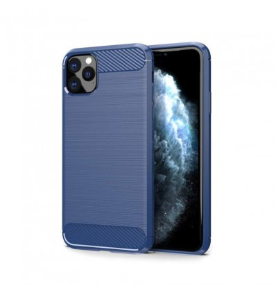 Husa Apple iPhone 11 Pro carbon fiber albastru
